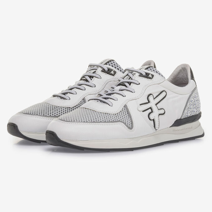 White suede leather sneaker