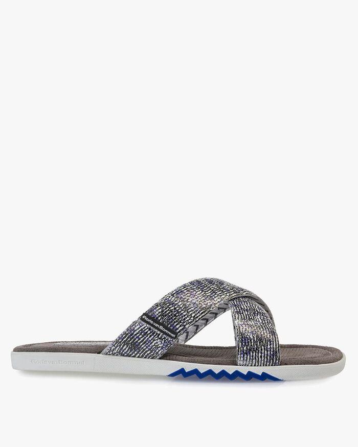 Slipper with print black/white