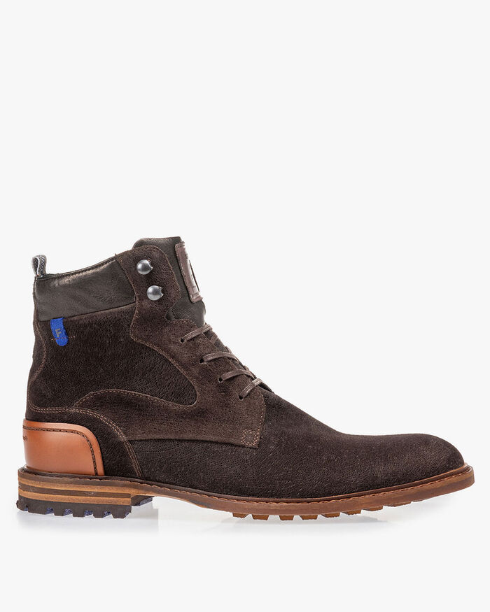 Crepi boot brown suede leather