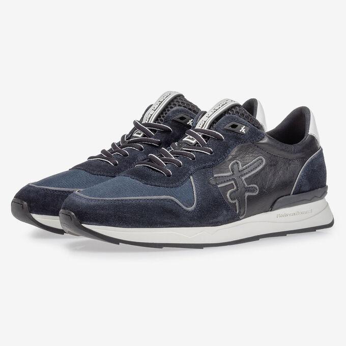 Sneaker dark blue suede leather
