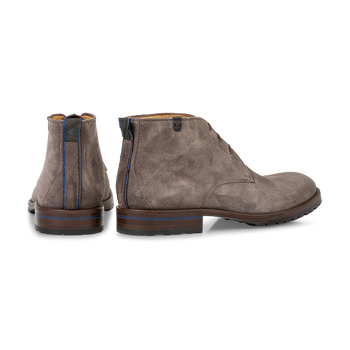 Lace boot suede taupe