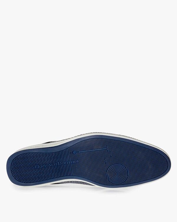 Blauer Schnürschuh Leder