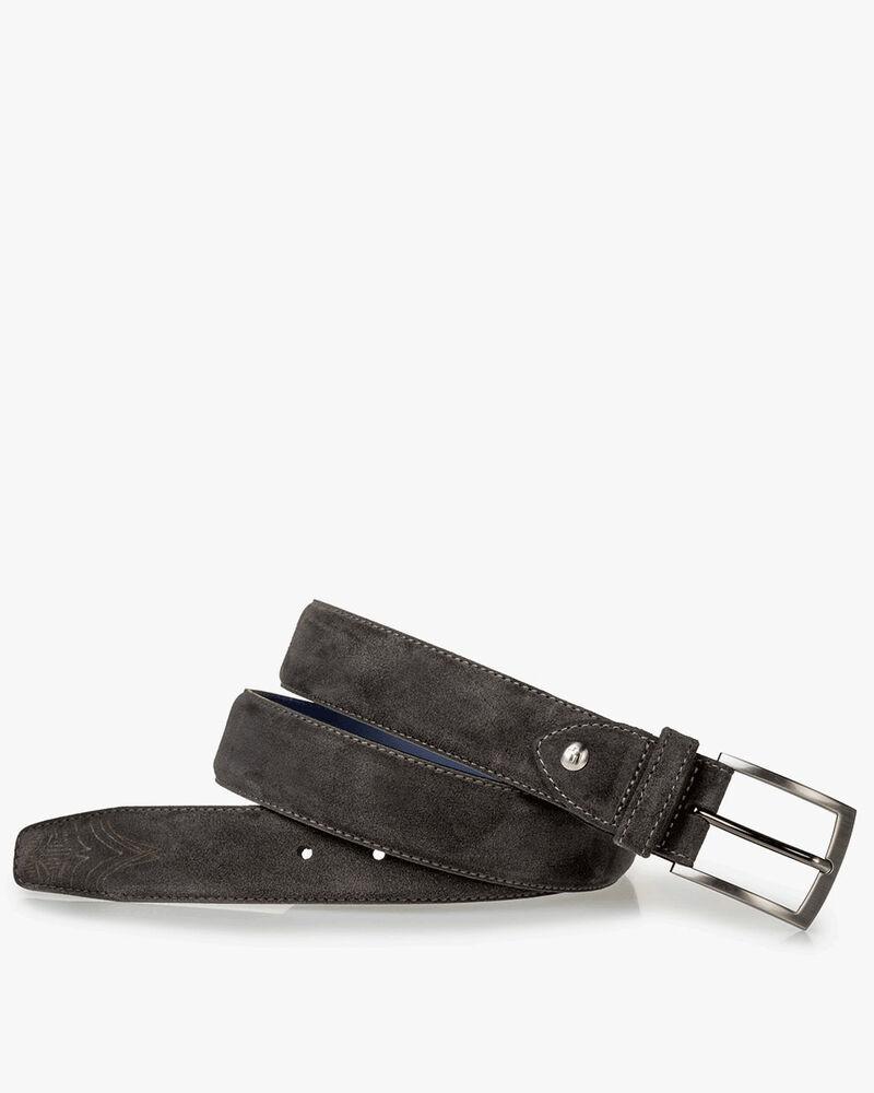 Belt suede dark grey