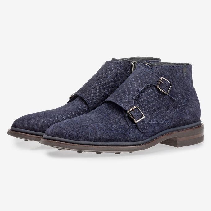 Stiefel mit Schnallenverschluss blau