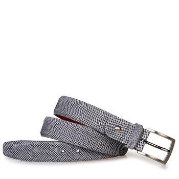 Gürtel Leder mit Print cremeweiß