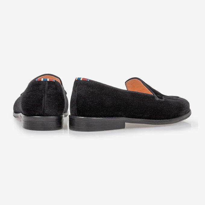 Loafer black textile
