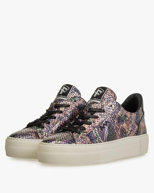 Sneaker Metallic-Print rosa