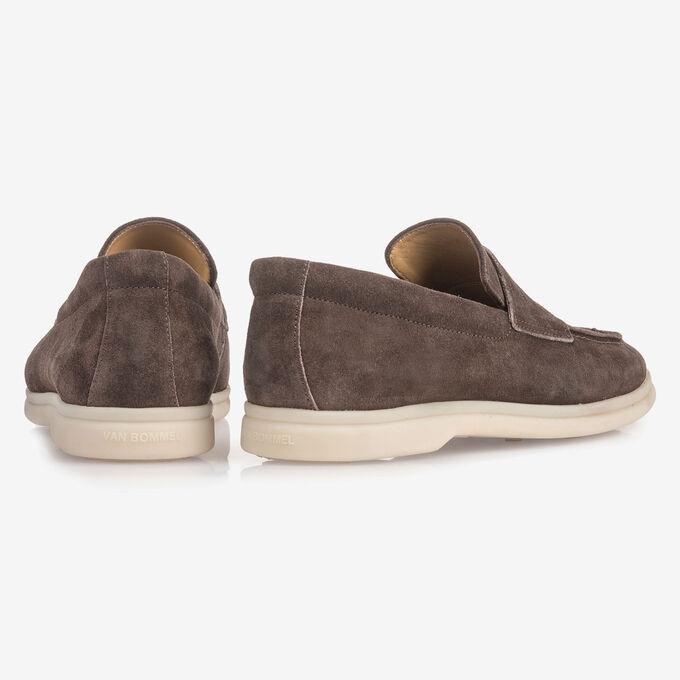 Dunkelbrauner Wildleder-Loafer