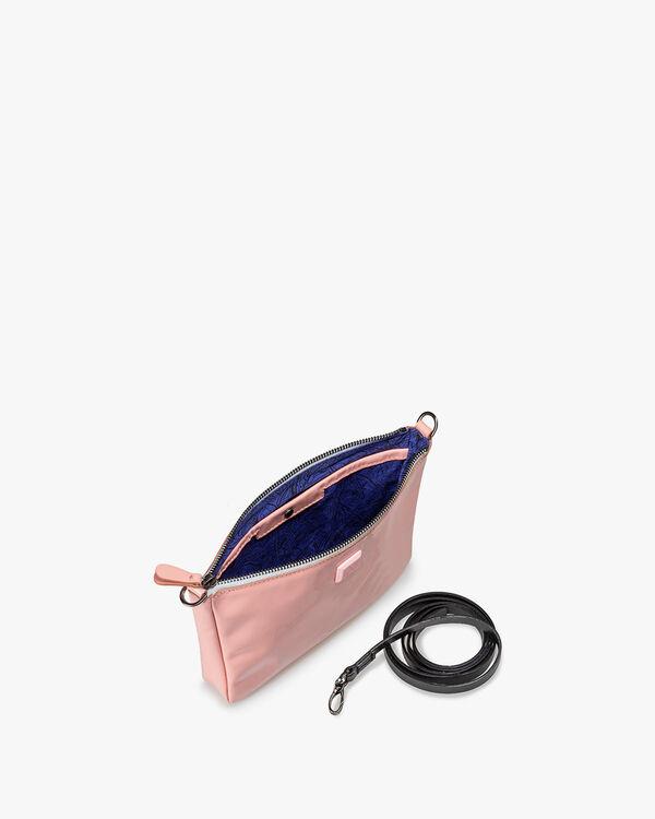 Cross body bag patent leather light orange