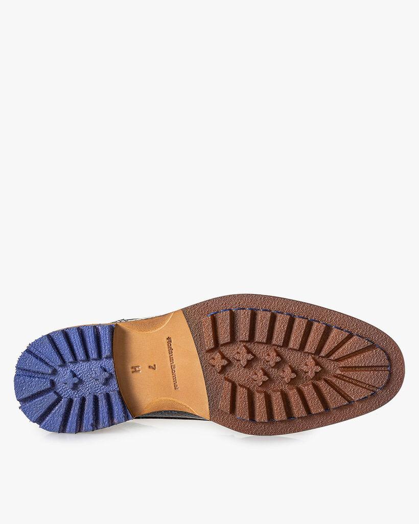 Crepi Stiefel metallic blau