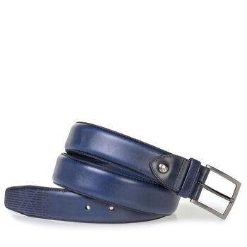 Dark blue leather belt