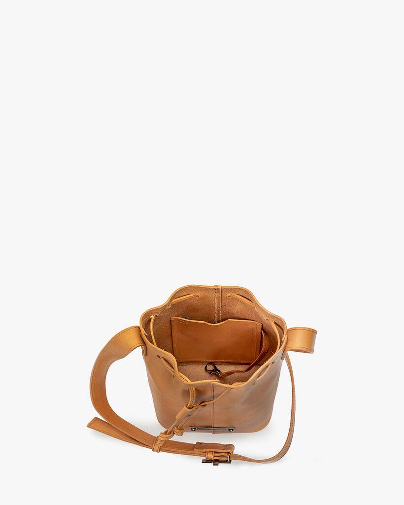 Bucket bag calf leather natural