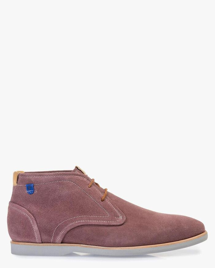 Boot suede leather pink
