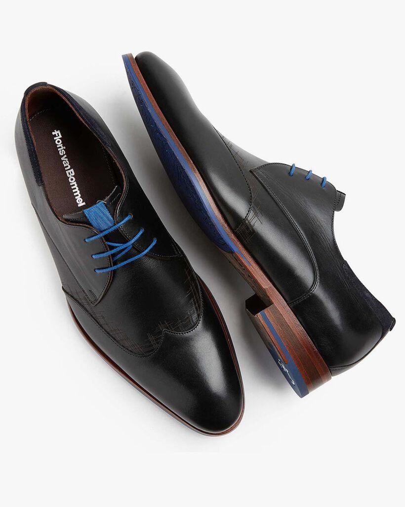 Schnürschuh schwarze Leder