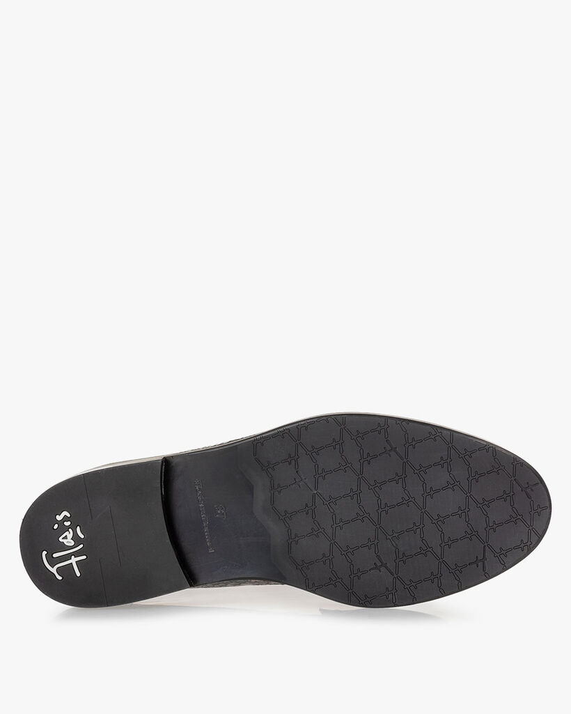 Loafer Reptilienprint dunkelgrau