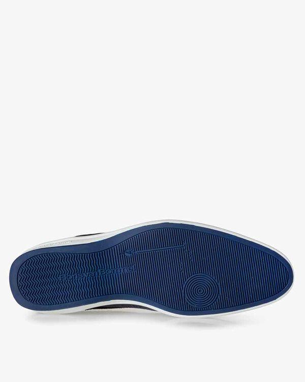 Schnürschuh Wildleder blau