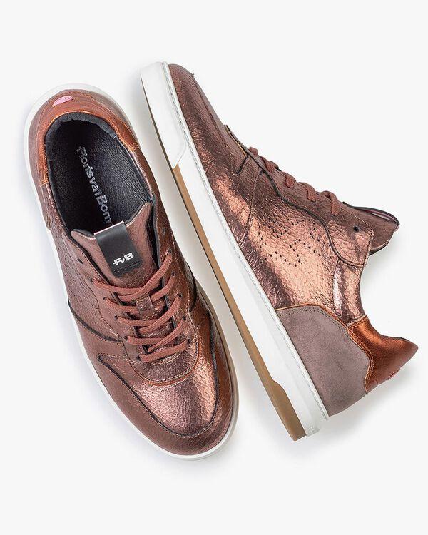 Sneaker craquelé leather pink