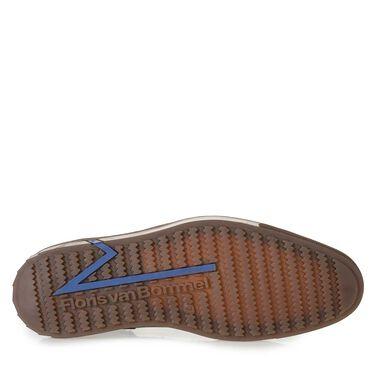 Halbhoher gefütterter Sneaker mit Brogue-Lochmuster