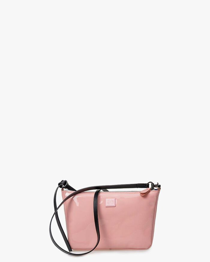 Crossbody-Tasche Lackleder pink