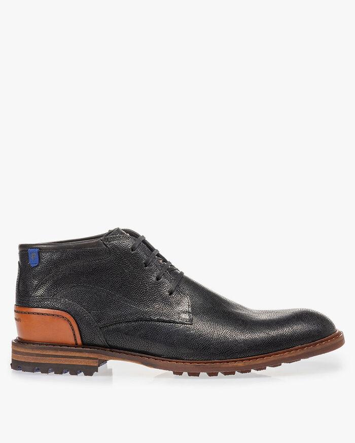 Crepi Stiefel schwarz mit Print