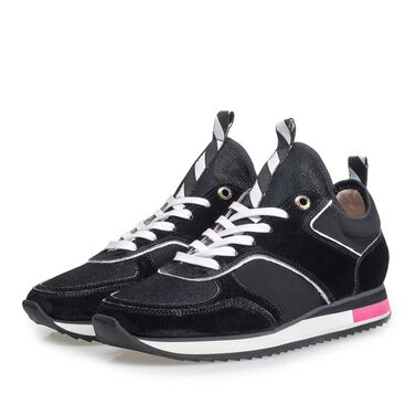 Leather sneaker with runnersole