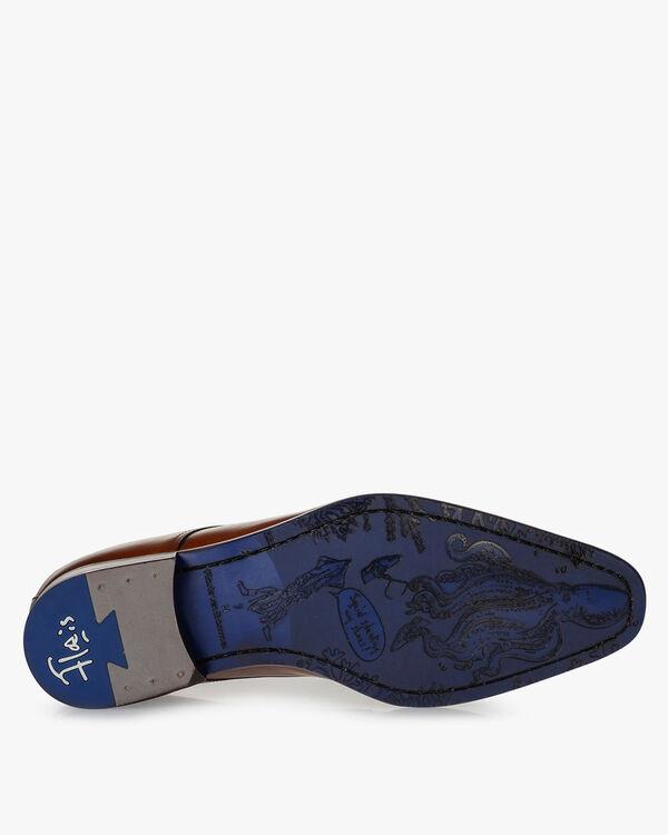 Lace shoe calf leather dark cognac