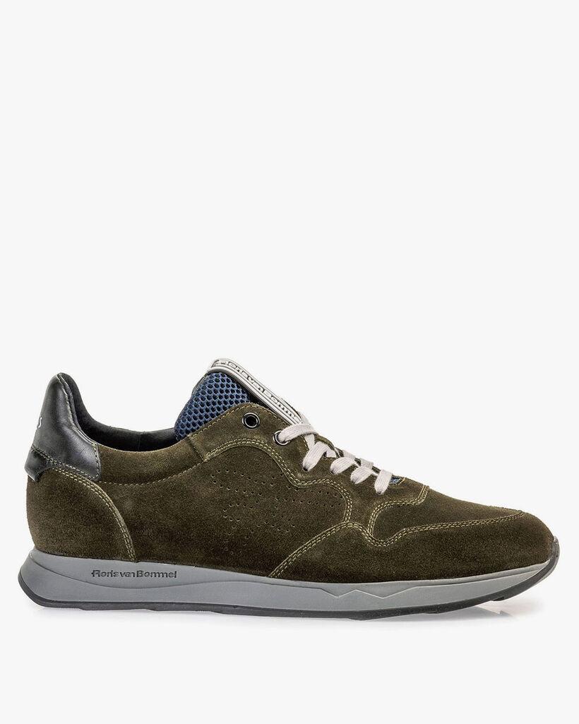 Wildleder-Sneaker dunkelgrün