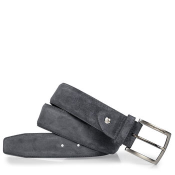 Suede leather belt black