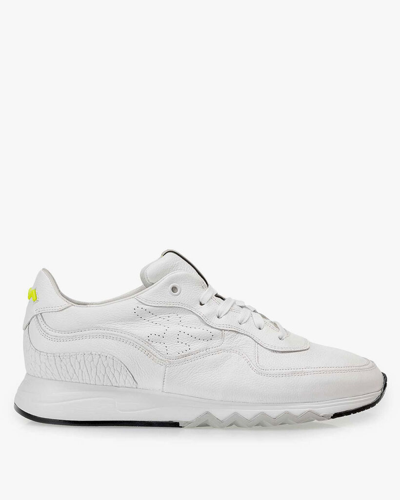 White structured leather sneaker