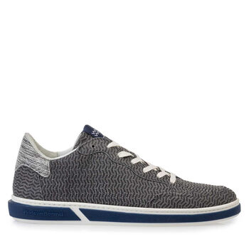 Sneaker nubuck leather grey