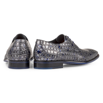 Lace shoe metallic grey