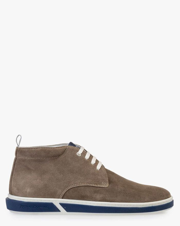 Boot suede leather taupe