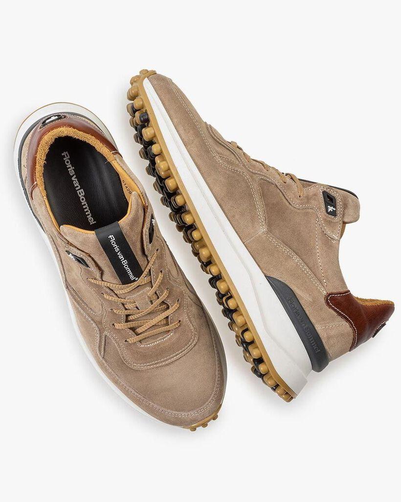 Beige suede leather sneaker