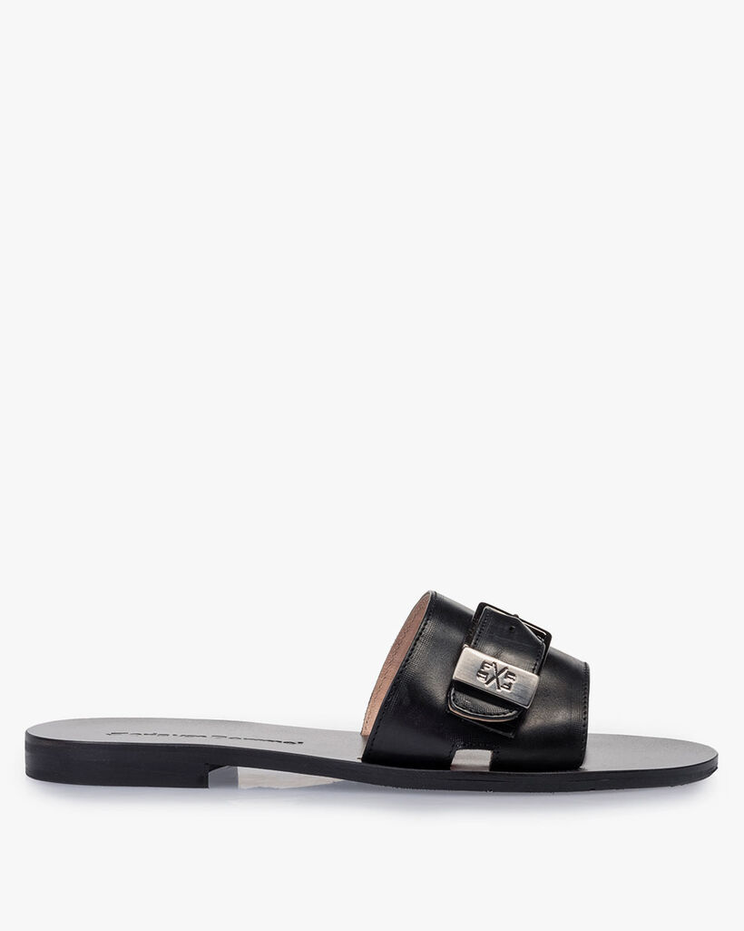 Slipper calf leather black