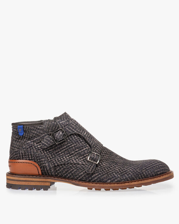 Boot grey with buckle