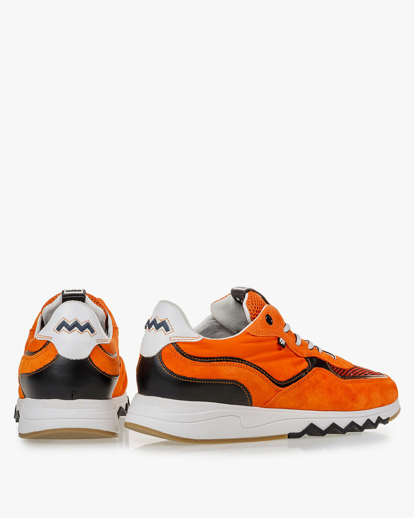 Nineti orange suede leather