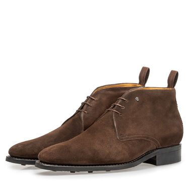 Van Bommel leather lace boot