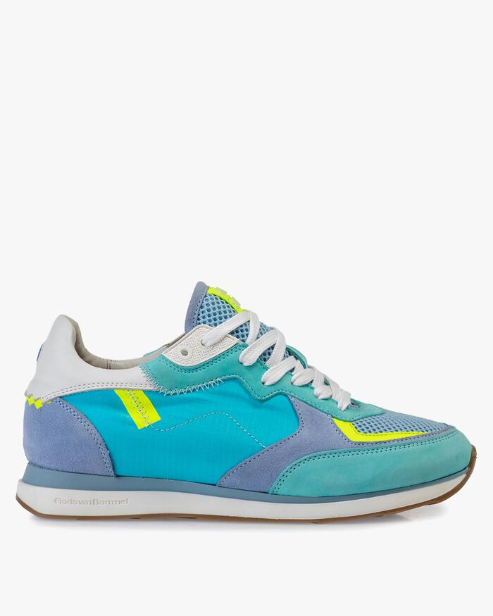 Sneaker nubuck leather blue