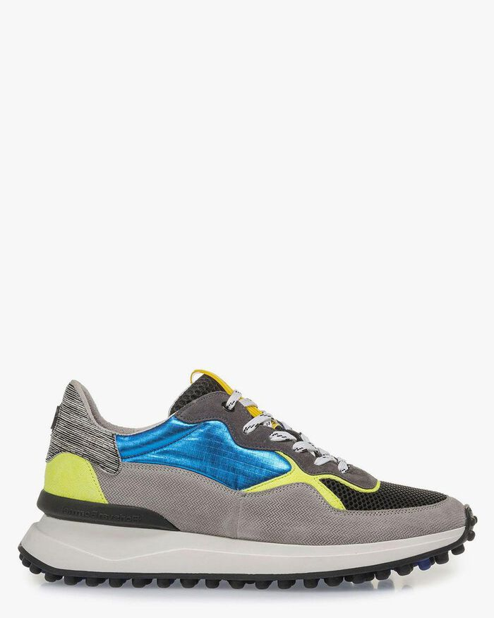 Mehrfarbiger Sneaker gelb-blau