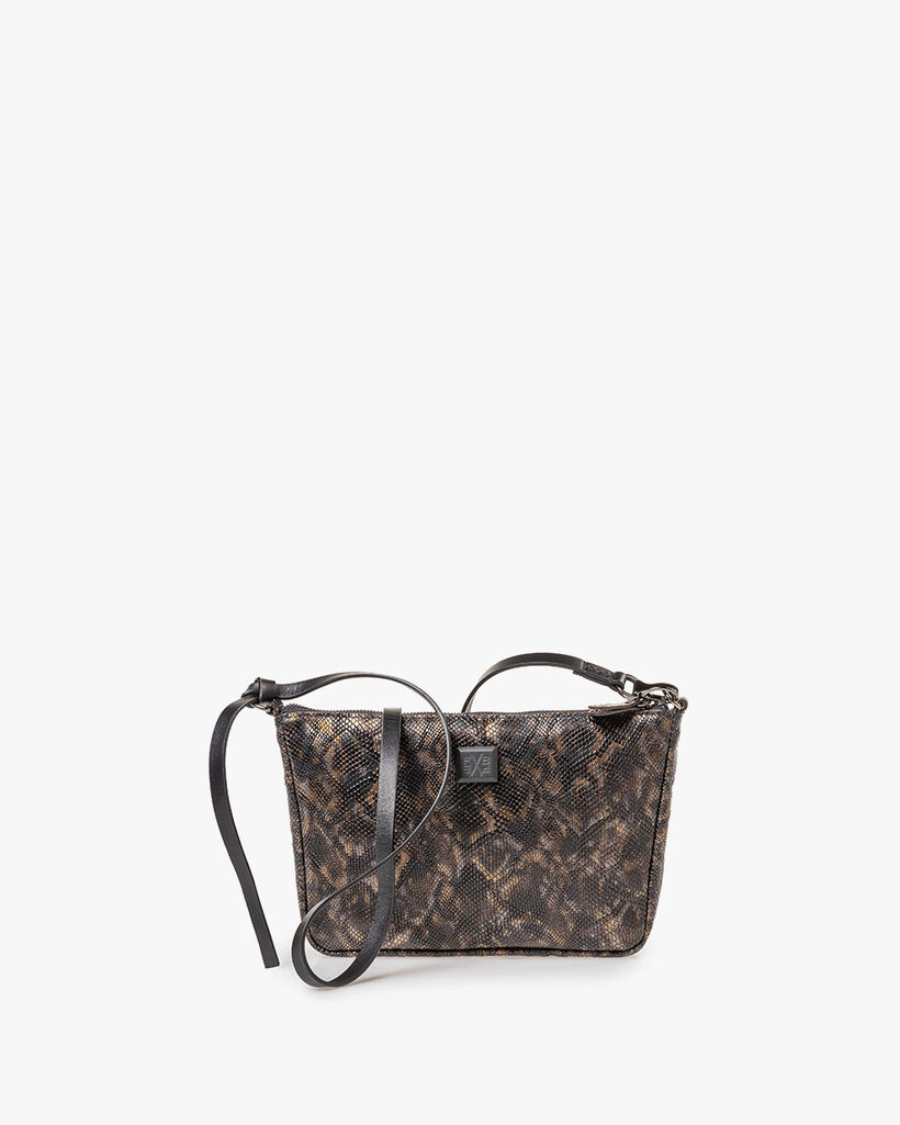 Bag croco print copper