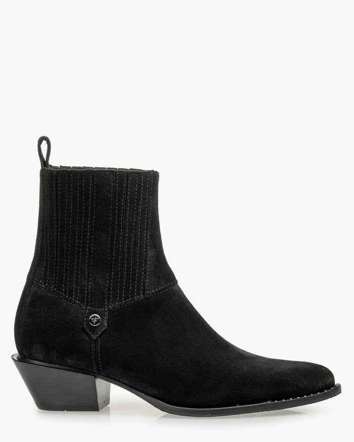 Chelsea Boot Wildleder schwarz