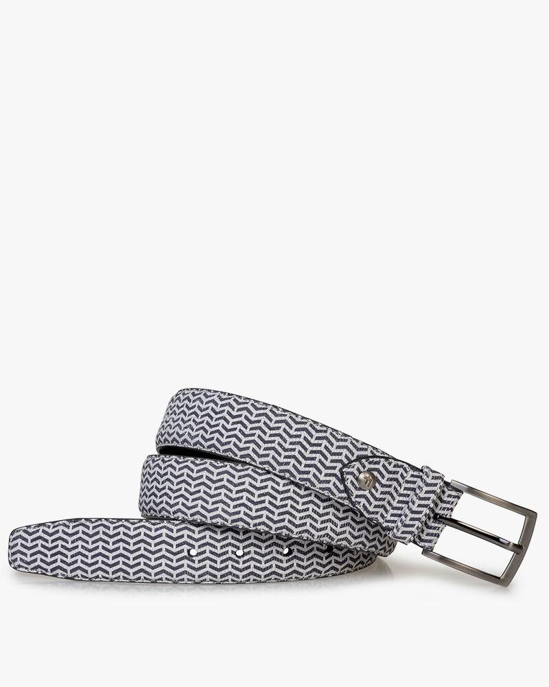 Gürtel Leder schwarz-weiß