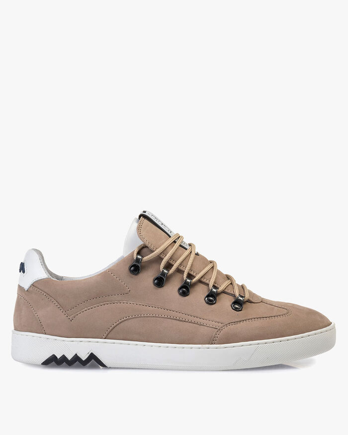 Hiking sneaker nubuck leather beige