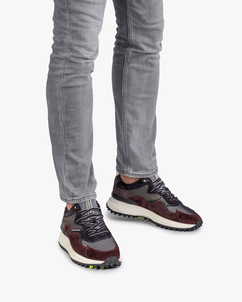 Noppi sneaker burgundy red/blue