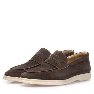 Van Bommel suede leather loafer