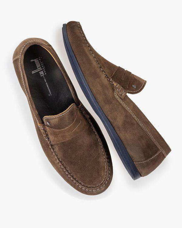 Taupefarbener Wildleder-Loafer