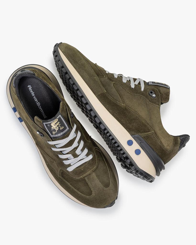 Vinti sneaker suede dark green