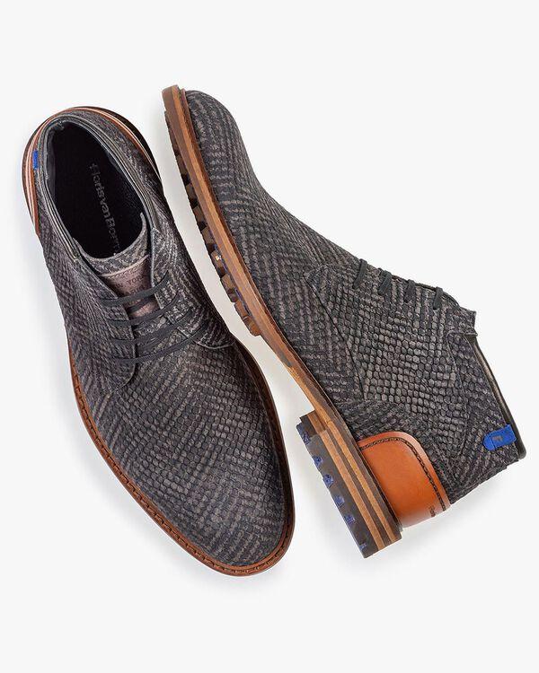 Crepi Stiefel grau mit Print