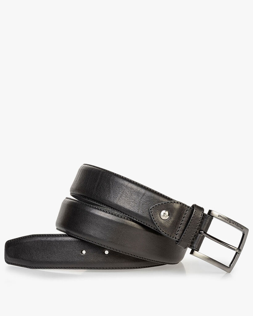 Calf leather belt black