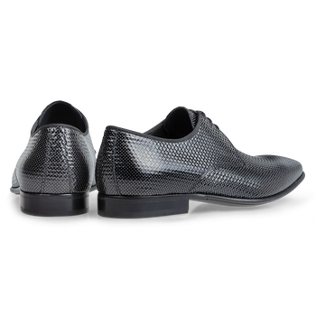 Lace shoe printed leather grey
